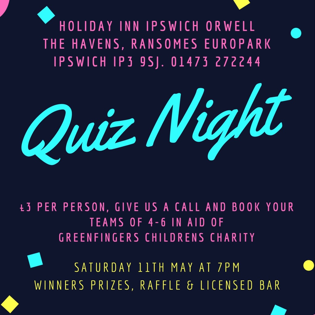 Quiz Night - Holiday Inn Ipswich Orwell 11/5 7pm IP3 9SJ