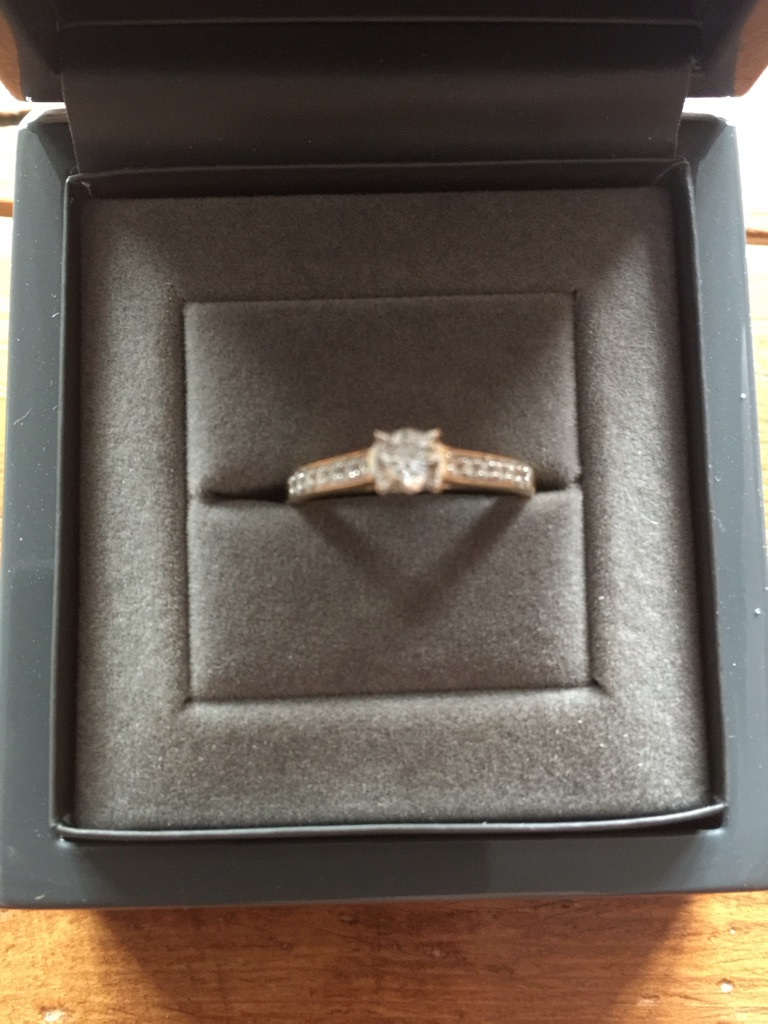 18ct Yellow Gold and Diamond Solitaire Engagement Ring