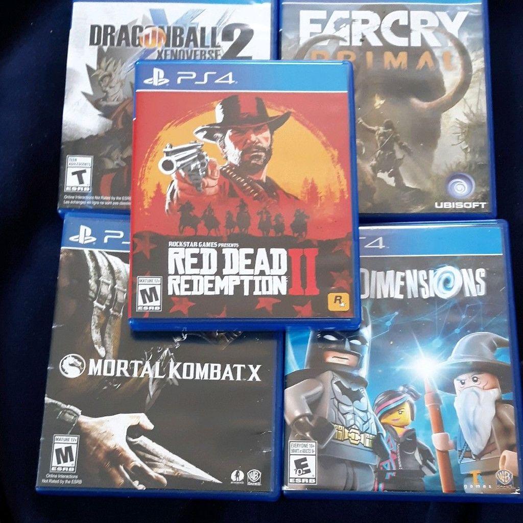 Red Dead Redemption 2/Dragon Xenoverse 2/FarCry Primal/Mortal Kombat X/Lego Dimensions