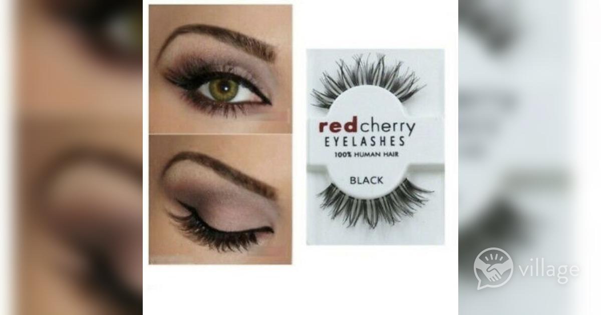4f80f9acabc Red Cherry Lashes / 100% Human Hair False Eyelashes / High Quality Fake  Lashes   Village