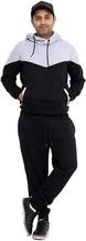 Men's tracksuit set fleece hoodie with bottoms