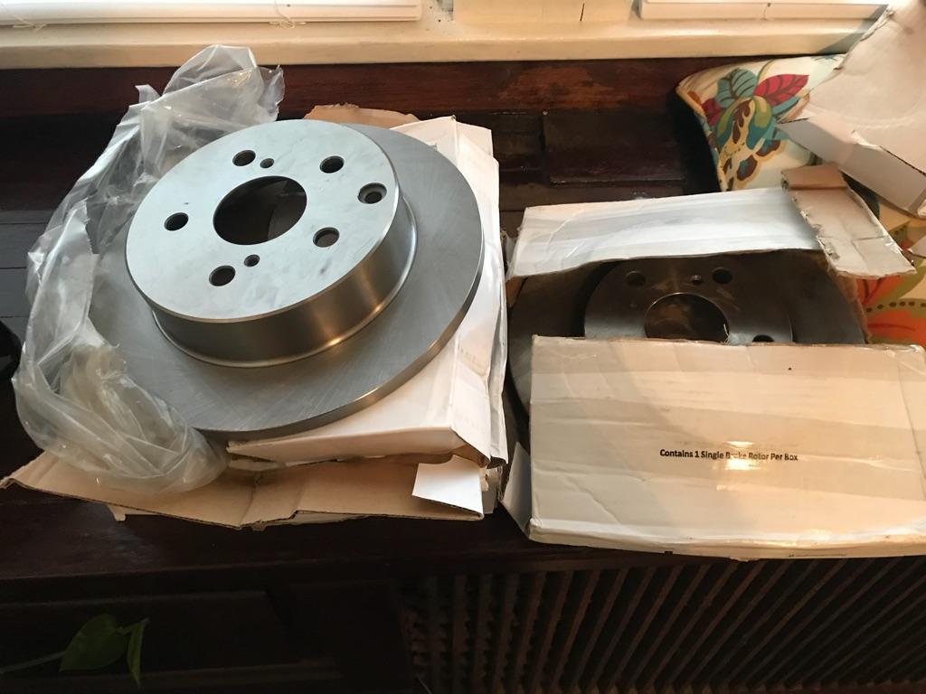 Full set rotors and brake pads NEW!!