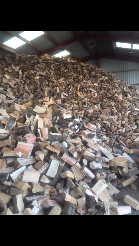 Seasoned barn stored fire wood