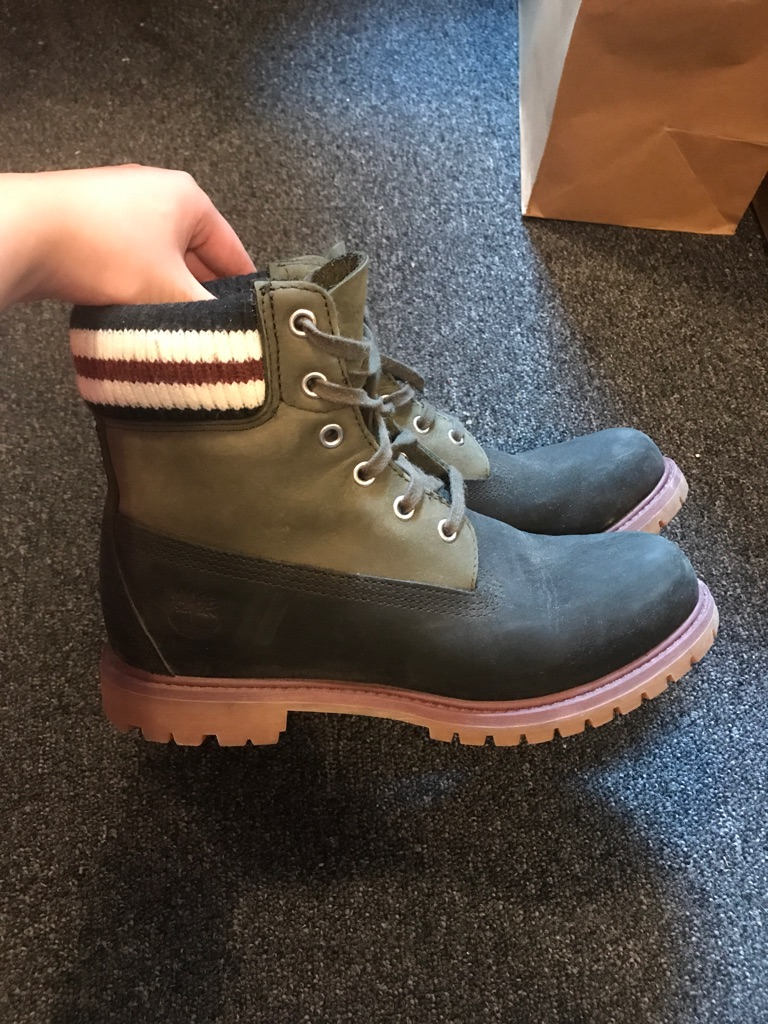 Marni X Timberland limited black&green leather boots UK6.5