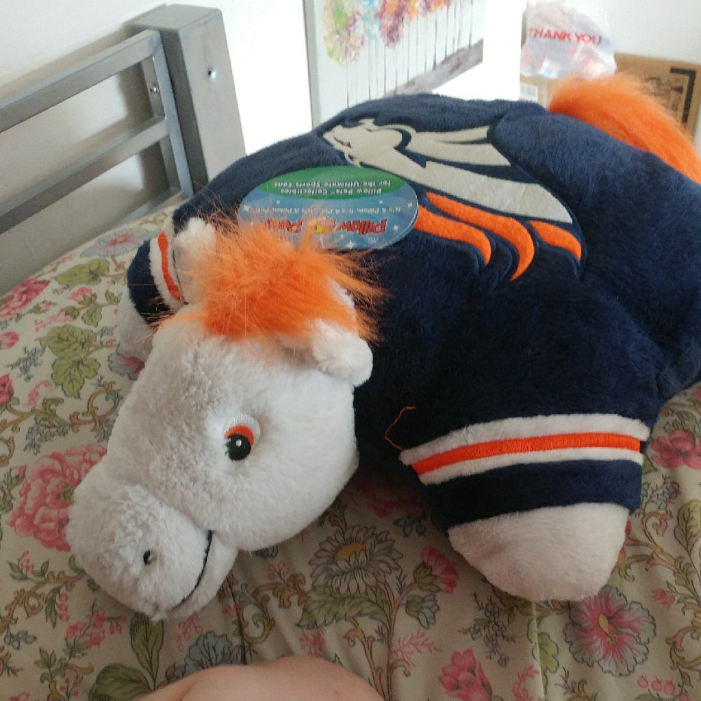 Broncos pillow pet