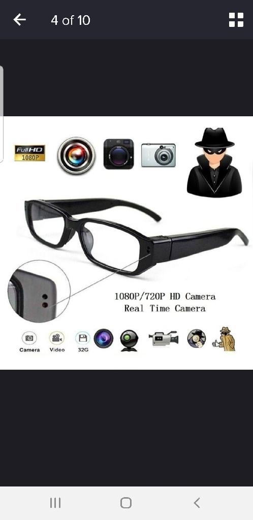 Brand new mini camera glasses. Ideal for sports