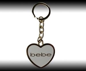 BeBe heart enamel logo Keychain