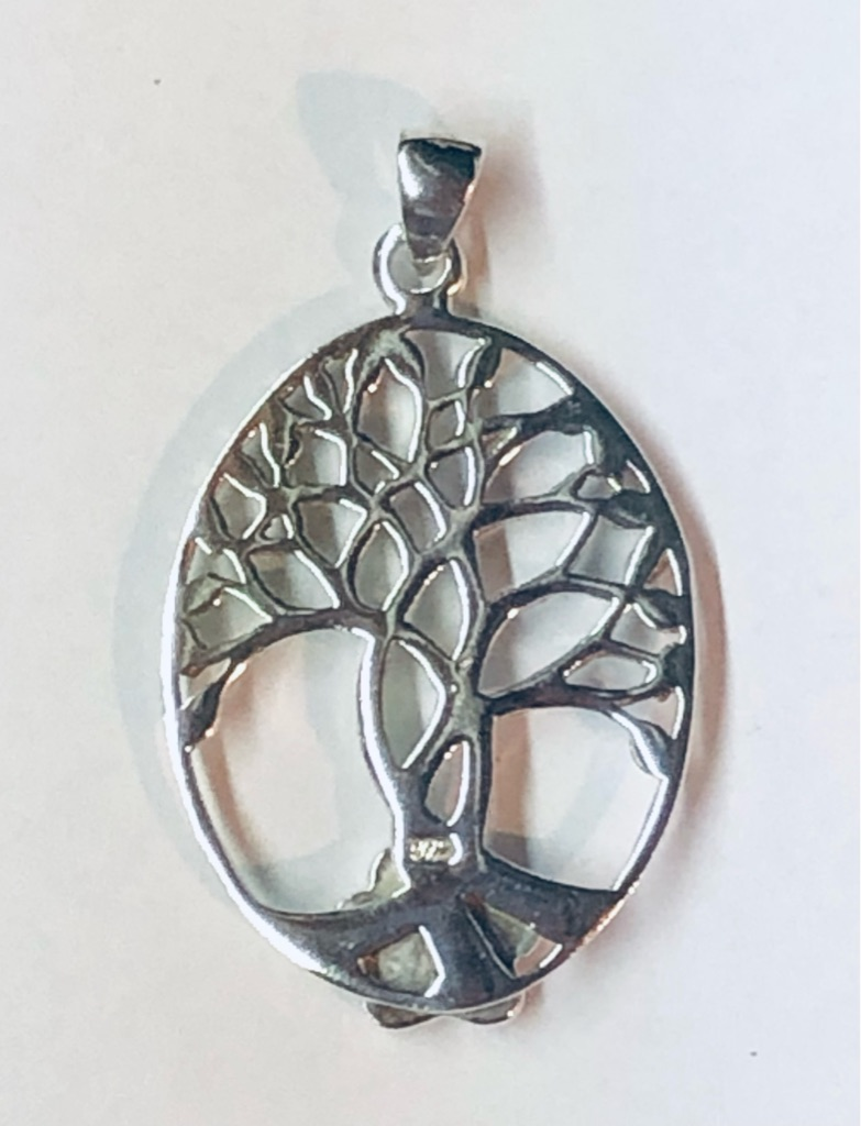 Sterling Silver Tree of Life w Puppy Paw®️
