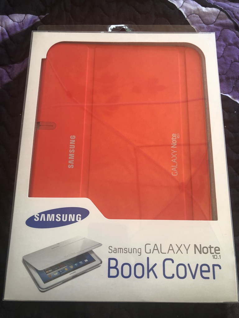 Samsung galaxy note 10.1 orange book cover