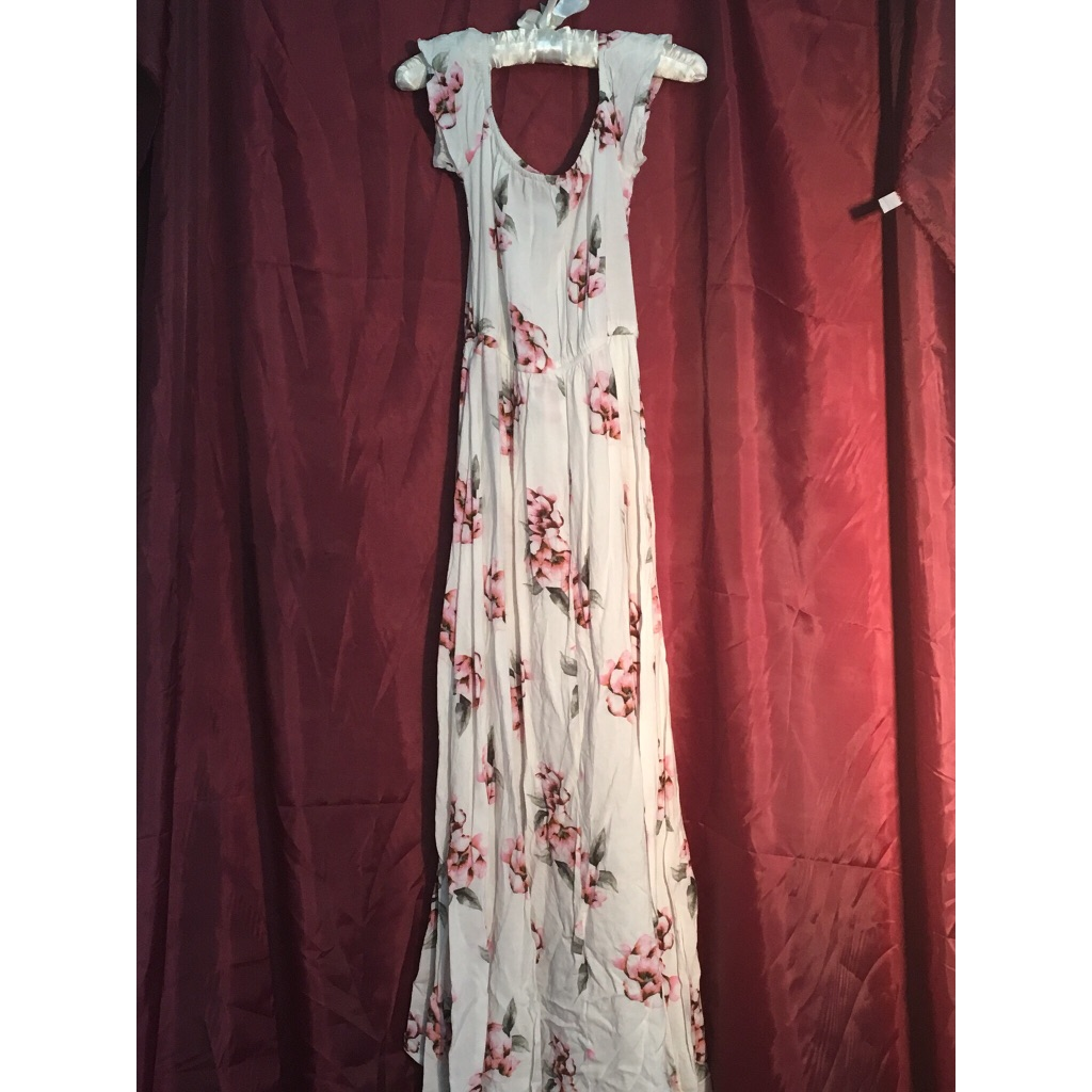 Asymmetrical Atmosphere Flower Summer Dress