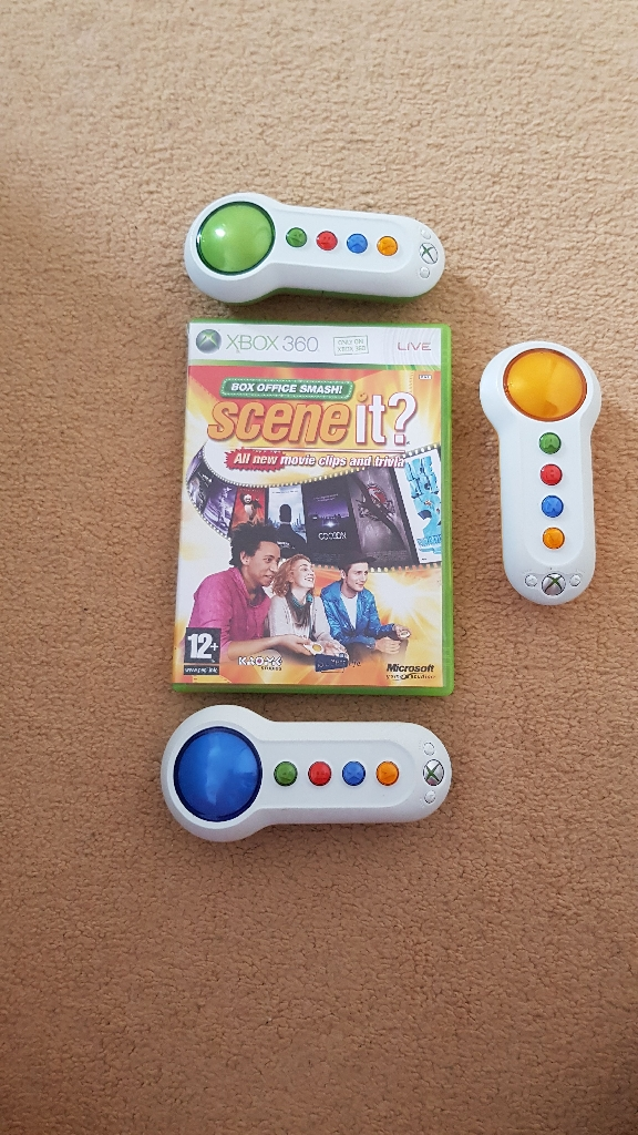 Xbox 360 scene it game with 3 controllers