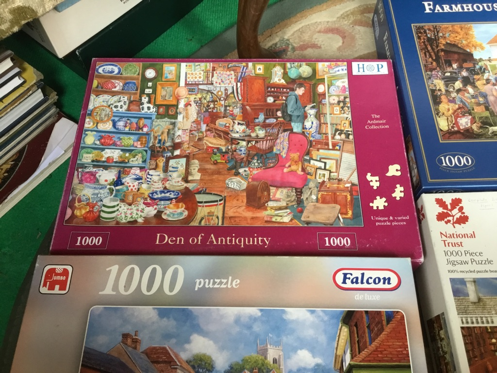 Job lot of 9 puzzles 1000 pieces complete in sealed bag