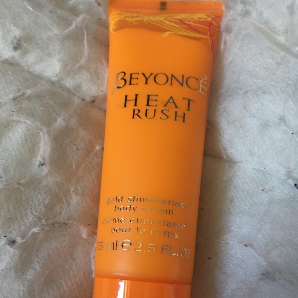 Beyoncé heat rush body cream