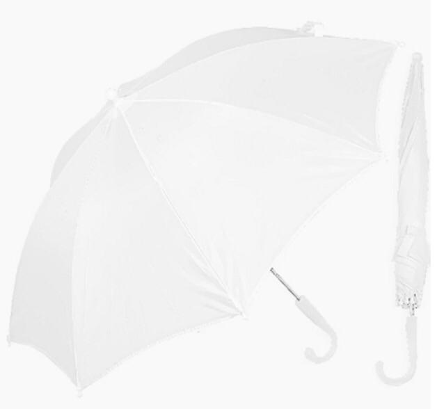 Bridesmaid flower girl 28in white umbrella