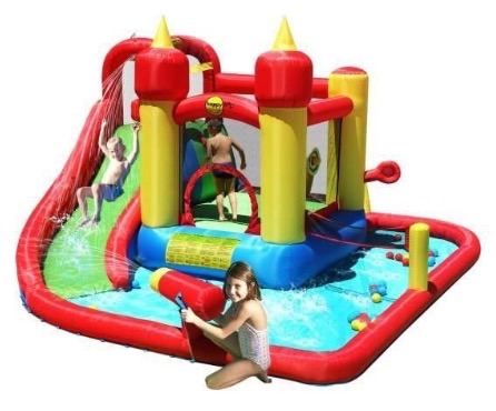 Jump and splash 14ft bouncy castle with waterslide and water cannon