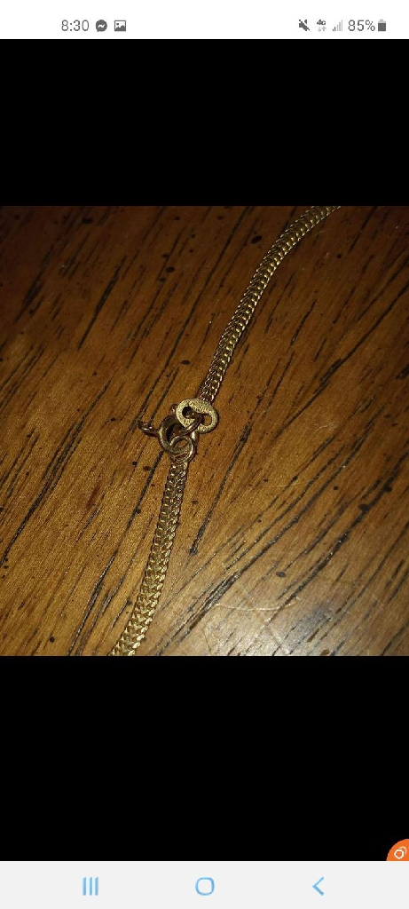 24in 14K solid gold chain
