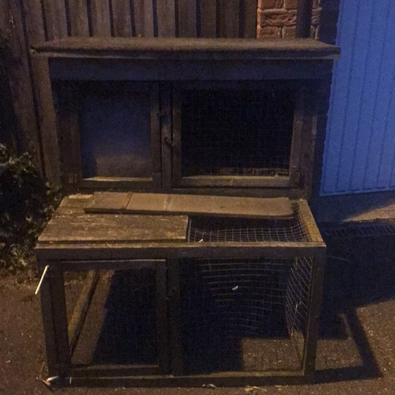 Guinea pig hutch needs TLC