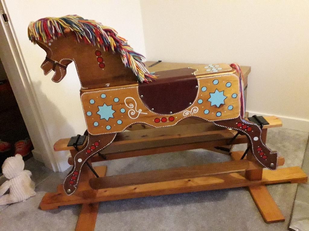 Wooden  Vintage Rocking Horse