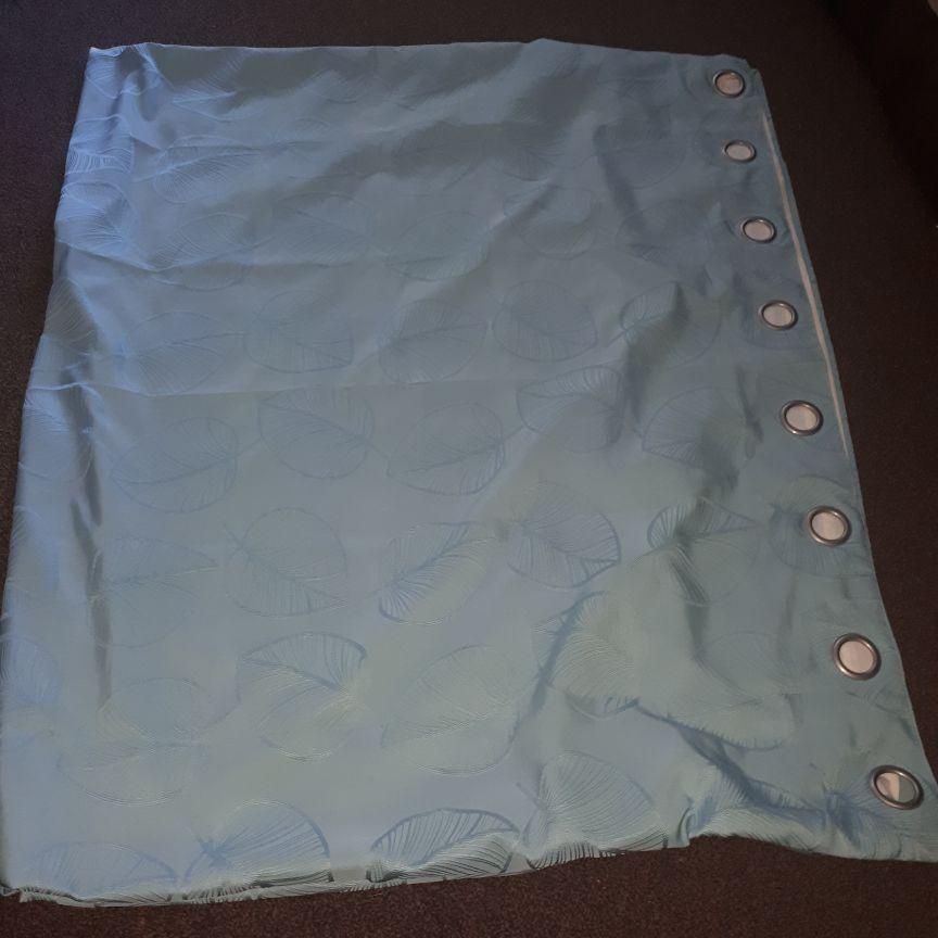 Duck blue curtains x2