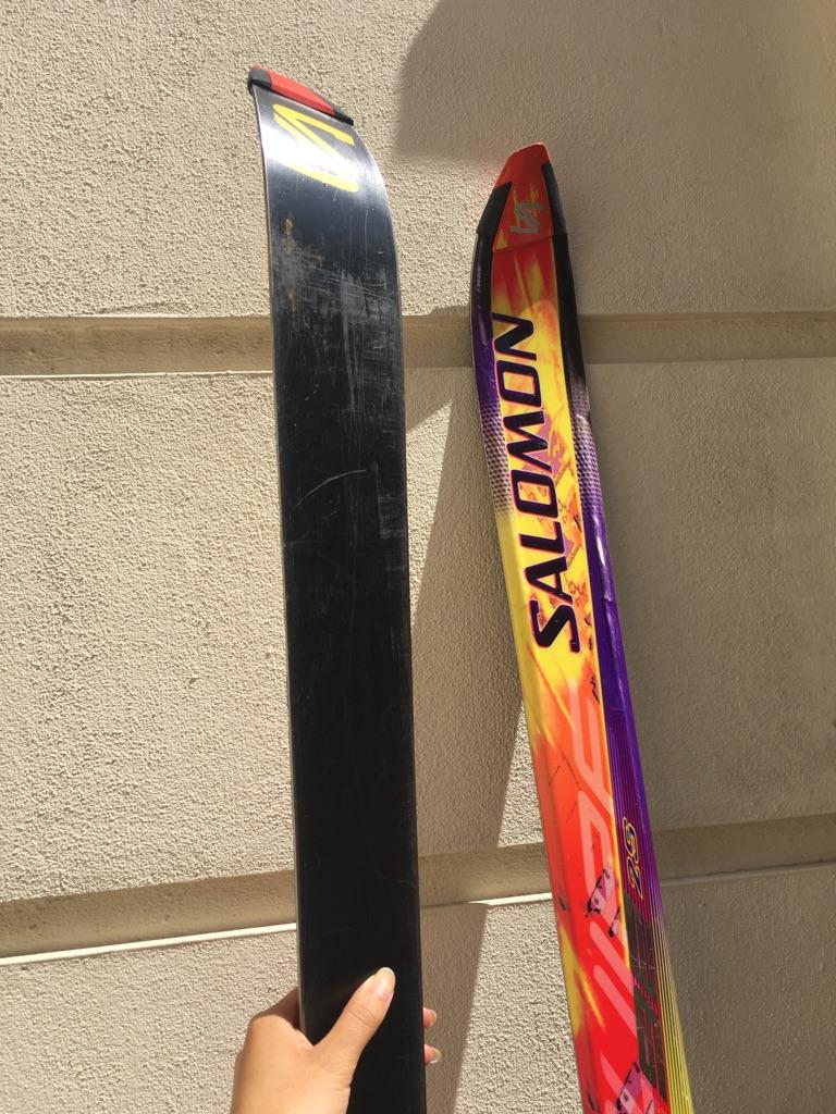 Salomon Equipe skis and poles