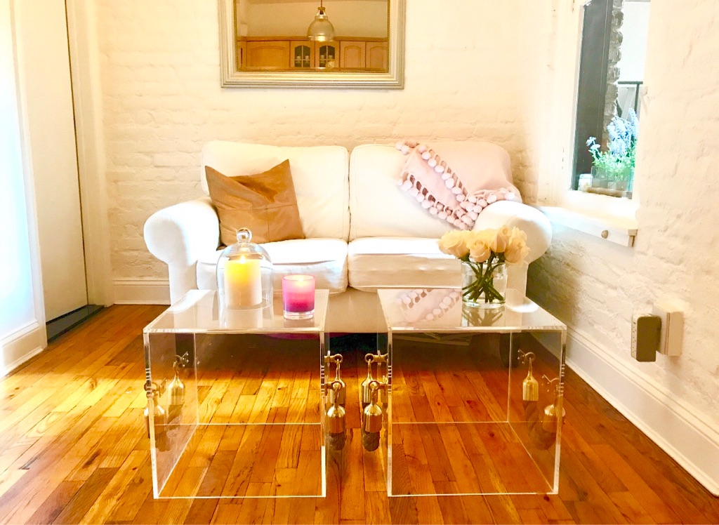 Acrylic Cube Coffee or Side Table