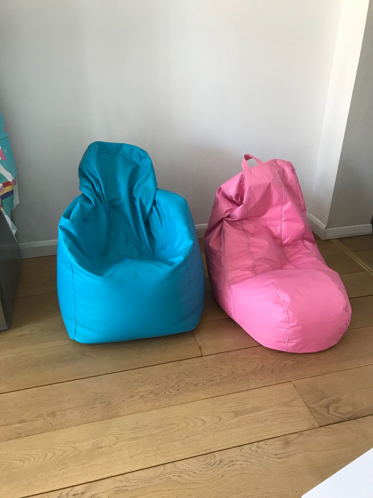 2 x BeanBags! Pink and Blue