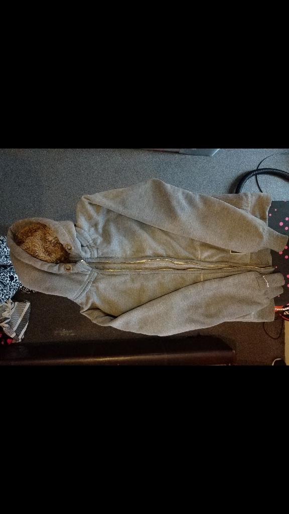 Mens grey size medium warm superdry jacket/hoodie