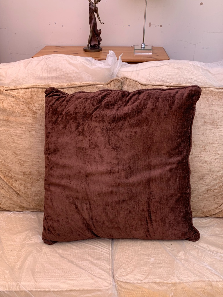 3x sofa backing cushions