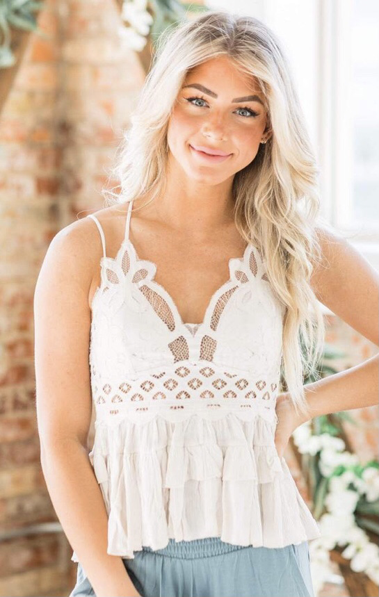 Lace cami 20% off using my code below