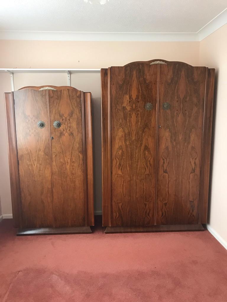 1950s walnut wardrobe in Norwich