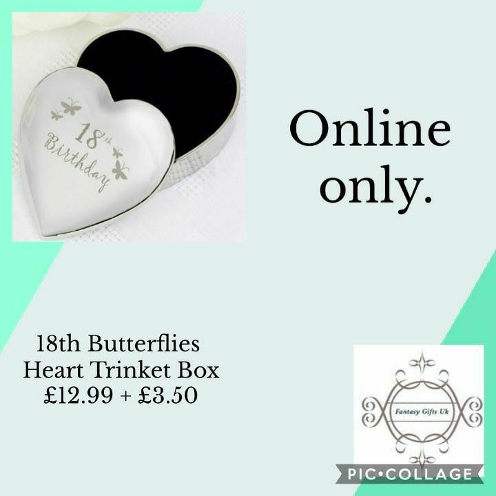18th Butterflies Heart Trinket Box