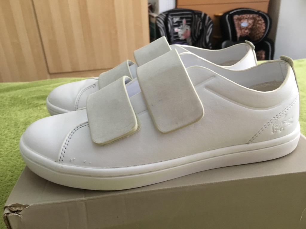 Lacoste leather ladies trainers size 5 used