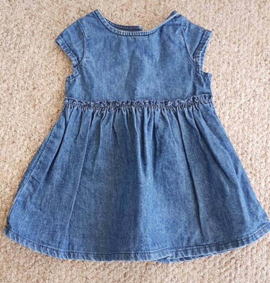 Girls Next Denim Dress 3-6 Months