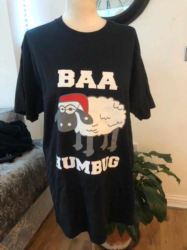 Women's men's Christmas t shirt sizes L and XL