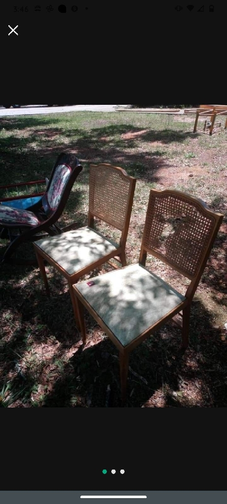 Vintage bamboo back chairs