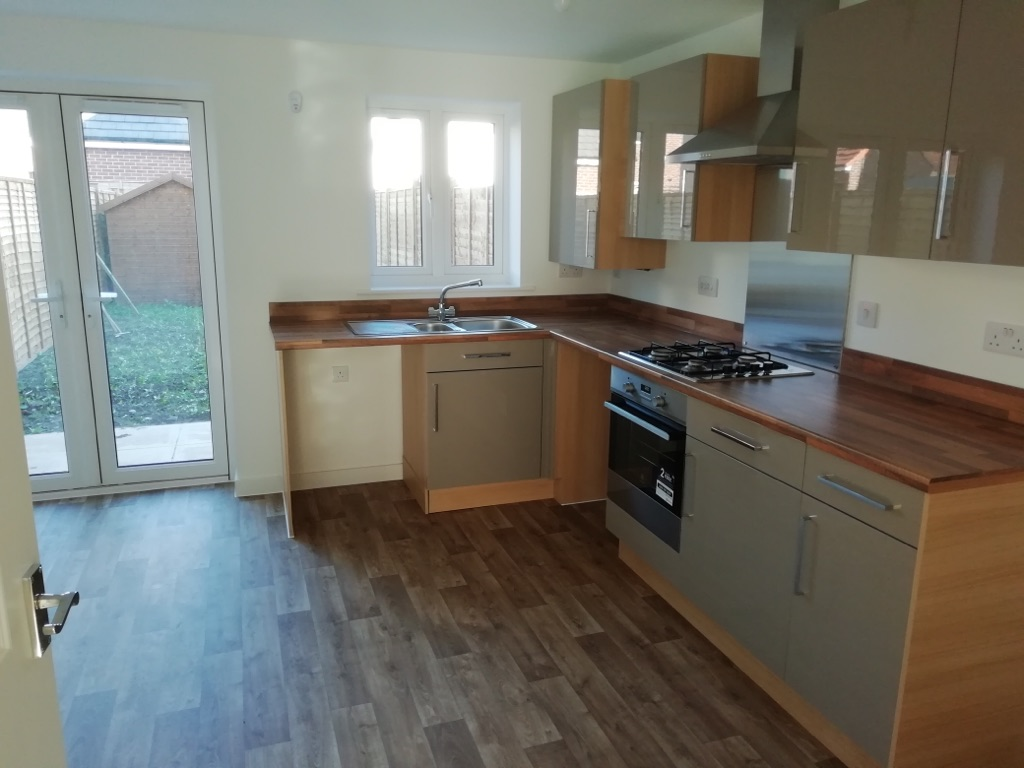 Kitchen - Including kitchen units, hob, cooker hood and new unused oven