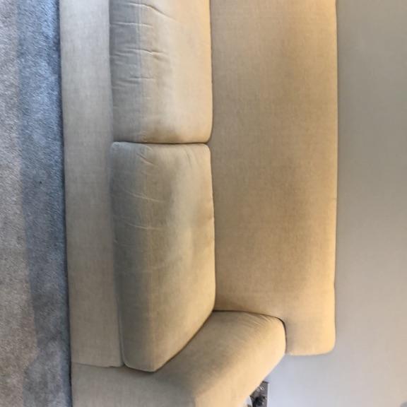 Large cream M&S sofa
