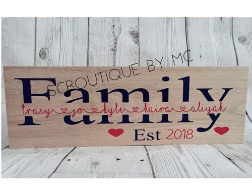 Family freestanding plaque