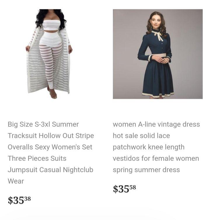 New dresses, all colors
