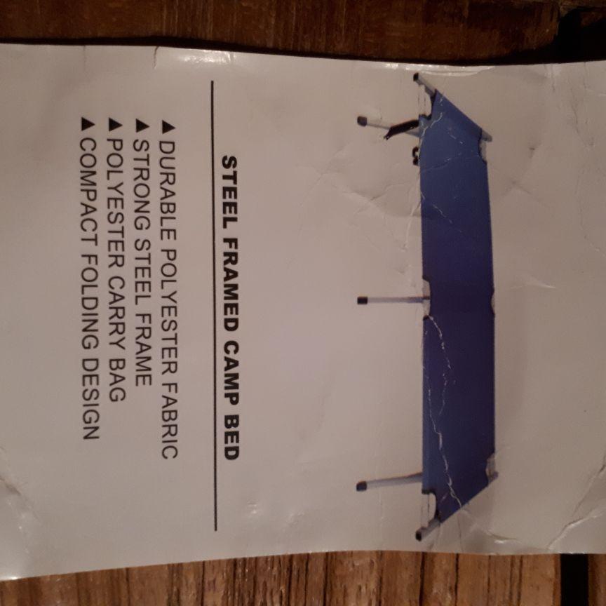 Steel-framed camp bed - single