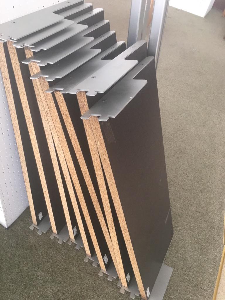 Ikea wood shelving