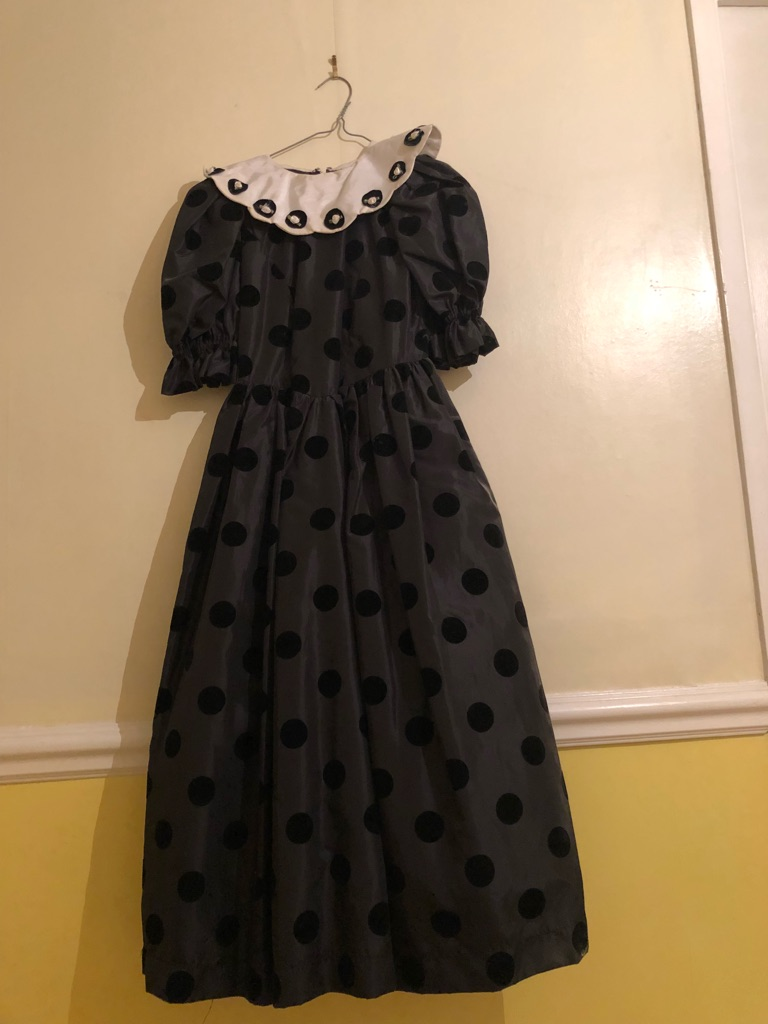 Hand made black and white girls dress