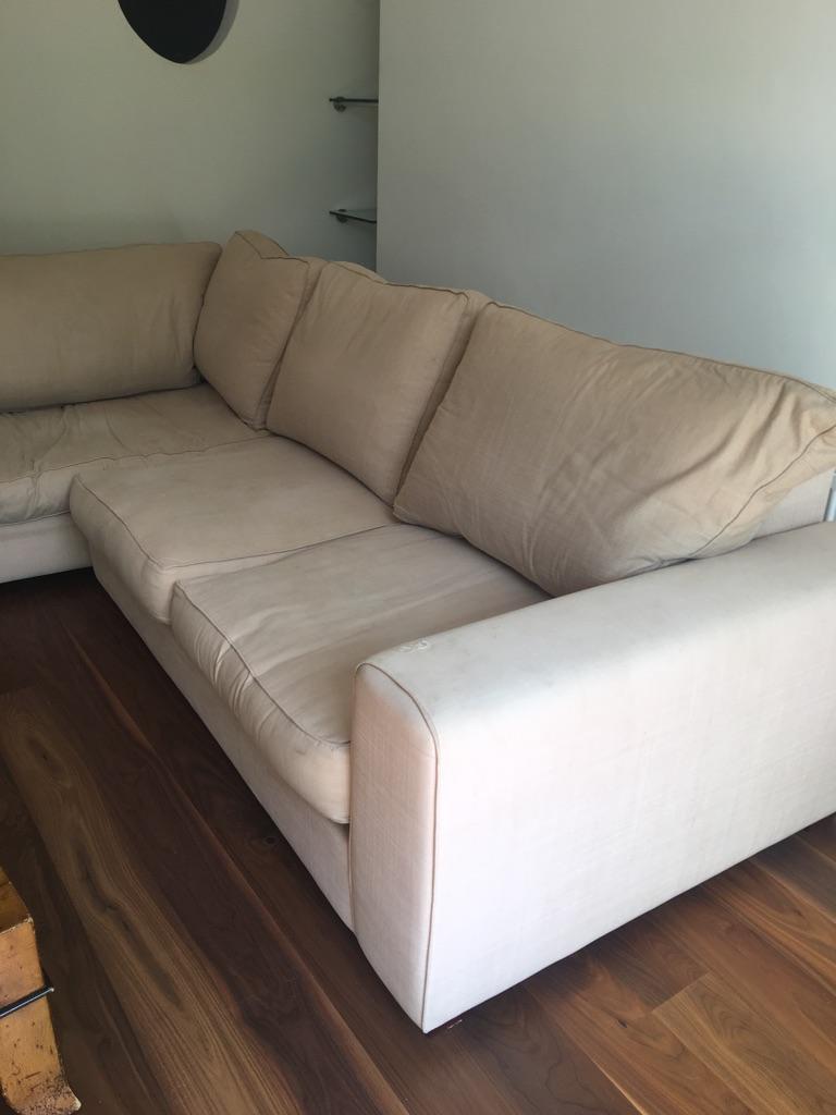 Heals corner sofa in Romo fabric -collect asap