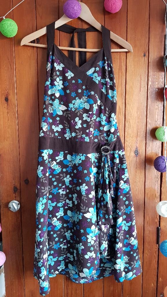 Ted Baker Floral Halter Neck Style Dress - Size 2/UK 10