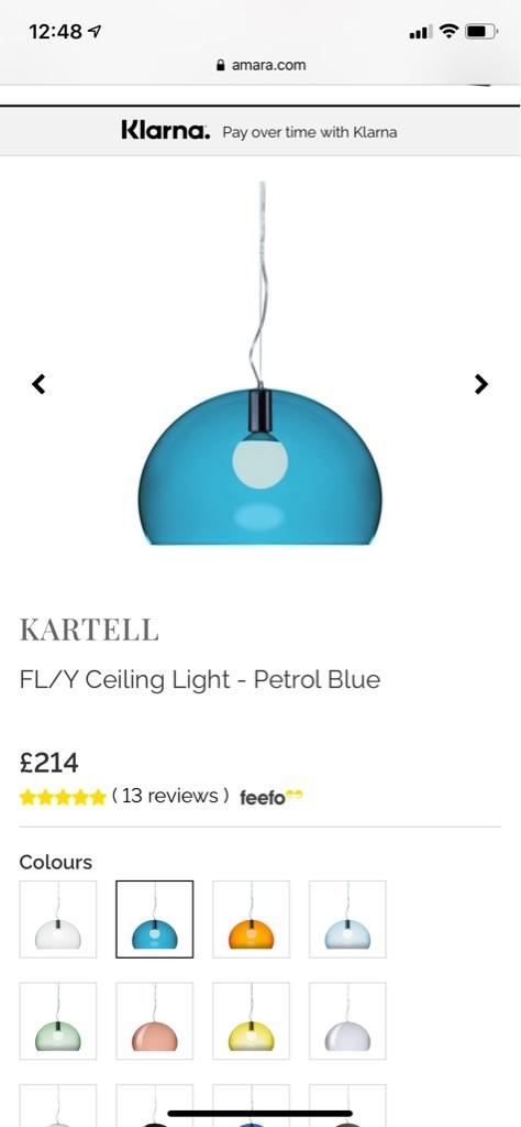 Kartell FLY Ceiling light