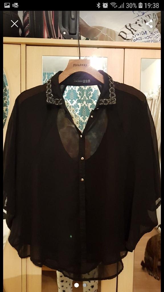 Black & Gold Evening Shirt size 14
