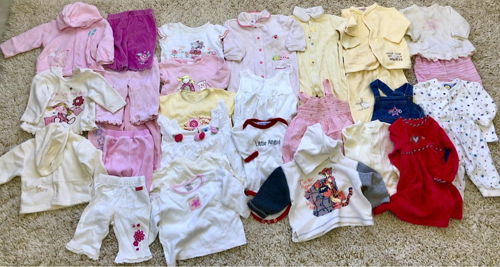 Baby clothes from newborn to 6 months