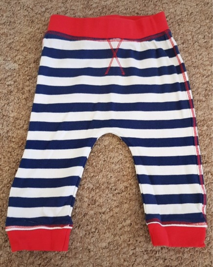 Boys striped trousers 6-9 months