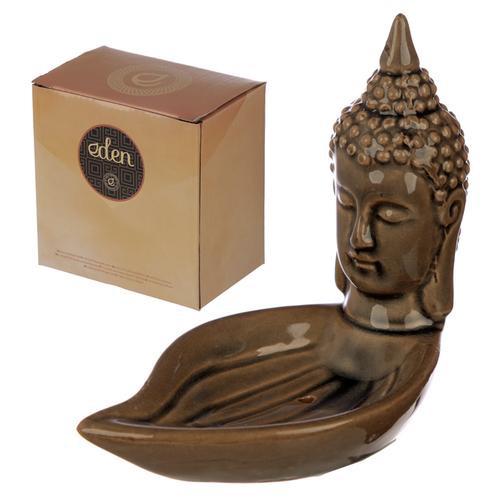 Eden incense burner- Thai Buddha head and leaf