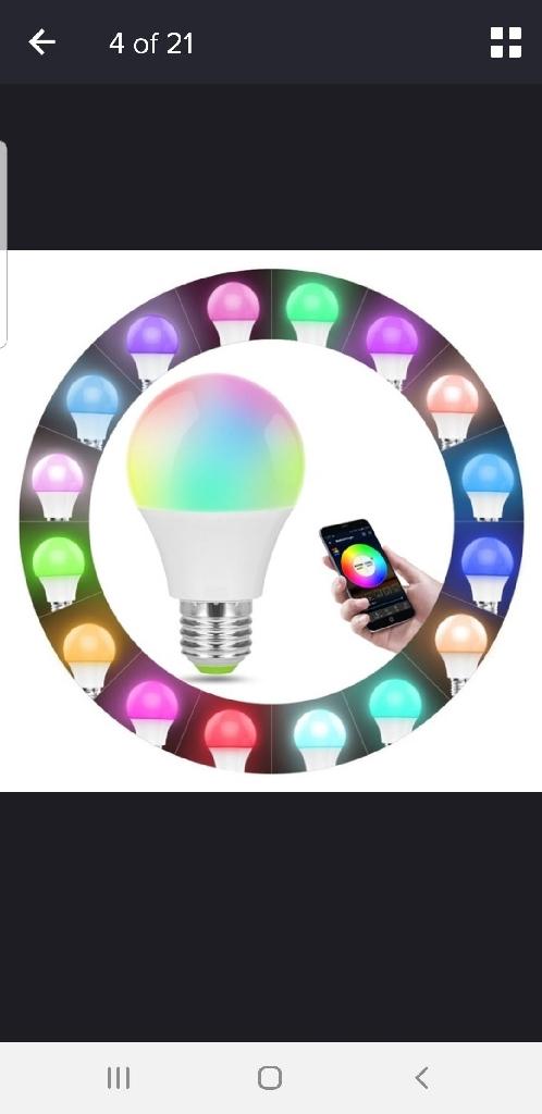 Brand new bluetooth Alexa changing colour light bulb